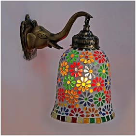 Somil New Stylish Hand Decorative Colorful Glass Wall Lamp Light With Elephant Shape Fitting EW-eL14