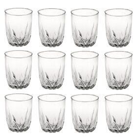 Somil New Stylish & Designer Baverage Tumbler Multipurpose Clear Glass (Set Of 12)-GZ19
