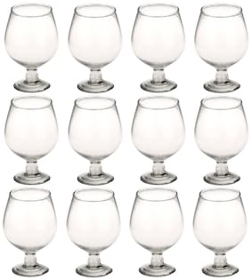 Somil New Stylish & Designer Baverage Tumbler Multipurpose Clear Glass (Set Of 12)-GZ27