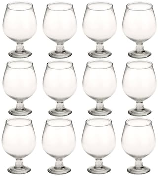 Somil New Stylish & Designer Baverage Tumbler Multipurpose Clear Glass (Set Of 12)-GZ27