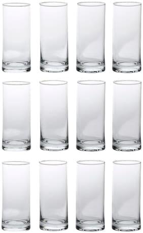 Somil New Stylish & Designer Baverage Tumbler Multipurpose Clear Glass -GL63 (Set Of 12)