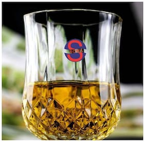 Somil New Stylish Transparent Drinking Glass (Set Of 1);Clear;180ml
