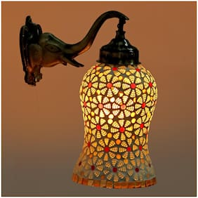 Somil New Stylish Hand Decorative Colorful Glass Wall Lamp Light With Elephant Shape Fitting EW-eL15