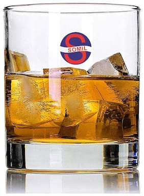 Somil New Stylish Transparent Drinking Glass (Set Of 1);Clear;290ml