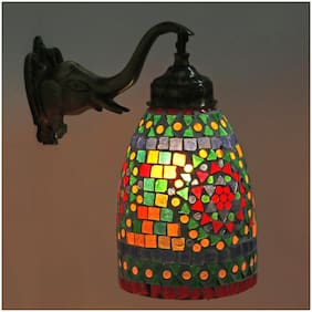 Somil New Stylish Hand Decorative Colorful Glass Wall Lamp Light With Elephant Shape Fitting EW-eL16