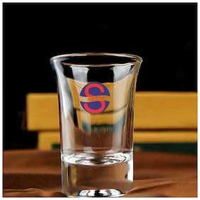 Somil New Stylish Transparent Drinking Glass (Set Of 1);Clear;30ml