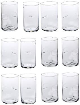 Somil New Stylish & Designer Baverage Tumbler Multipurpose Clear Glass -GL64 (Set Of 12)