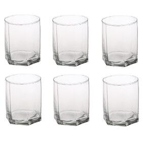 Somil New Stylish & Designer Baverage Tumbler Multipurpose Clear Glass (Set Of 6)-GZ38