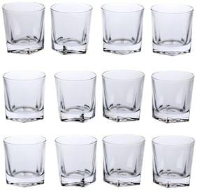 Somil New Stylish & Designer Baverage Tumbler Multipurpose Clear Glass -GL56 (Set Of 12)