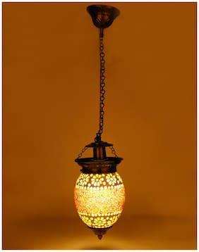Somil Pandent Glass Ceiling Lamp Equipped With Colorful Beads & Chips