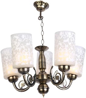 Somil Pendent Ceiling Chandeliers Jhoomer Lamp Light With Decorative Glass Shade