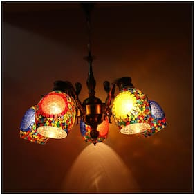 Somil Pendent Ceiling Chandeliers Jhoomer Of 5 Lamps