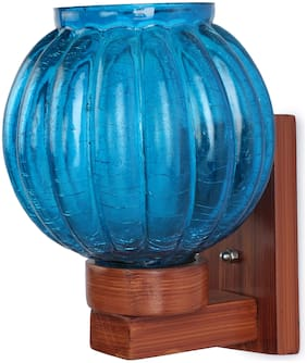 Somil Round Globe Shape LED Wall Lamp/ Light;Glass;Wood;7 Watt;With All Fixture