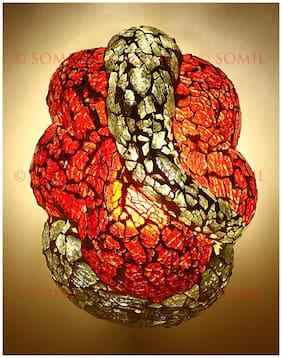 Somil Sanctified Colorful Ganesha Wall Lamp Ornamented