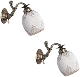 Somil Sconce Wall Lamp Light With Fairy Fitting And Decorated Set of 2