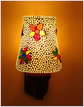 Somil Sconce Glimmer Wall Lamp Ornamented With Colorful Flower Chips .