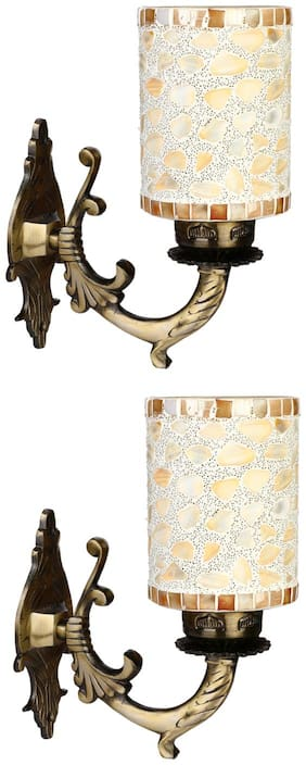 Somil Sconce Colorful Wall Lamp Ornamented With Colorful Chips Set Of 2