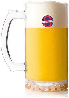 Somil Self Designed Multipurpose Beer Mug Glass With Handle