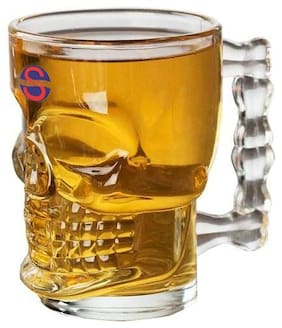 Somil Skull Designed Multipurpose Beer Glass Mug With Handle