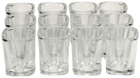 Somil Self Stylish & Designer Baverage Tumbler Glass With Heavy & Strong Wall For Tea & Cold Drink (Set Of 12)