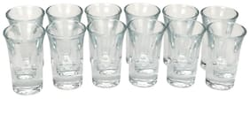 Somil Self Stylish & Designer Short Glass With Heavy & Strong Wall (Set of 12)