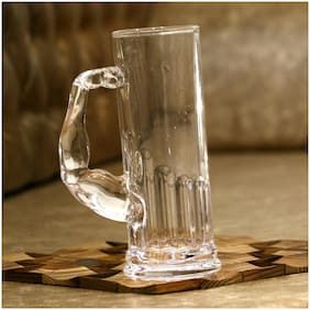 Somil Stylish Designer Beer Mug;Glass;Transparent;590 ml