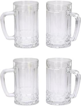 Somil Stylish Designer Beer Mug;Glass;Transparent;360 ml