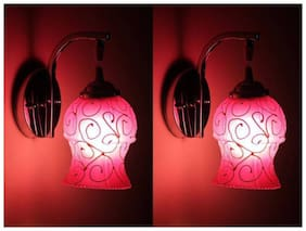 Somil Stylish & Designer Colorful Sconce Glass Wall Lamp Ligh( Set of Two)Dx20