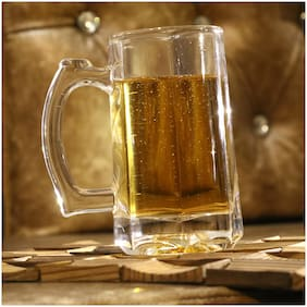 Somil Stylish Designer Beer Mug;Glass;Transparent;360 ml
