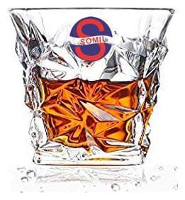 Somil Stylish Shape Self Designer Multipurpose Transprent Glass