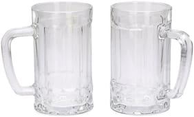 Somil Stylish Designer Beer Mug;Glass;Transparent;410 ml