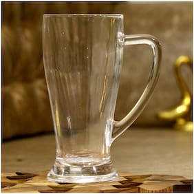 Somil Stylish Designer Beer Mug;Glass;Transparent;665 ml