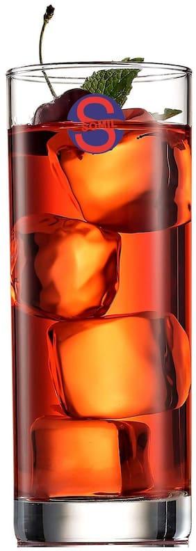 Somil Transparent Stylish Multi Purpose Glass;Clear;Beverage Tumbler;Set Of 1