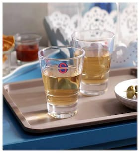 Somil Transparent Stylish Multi Purpose Glass;Clear;Beverage Tumbler;Set Of 2