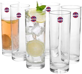 Somil Transparent Stylish Multi Purpose Glass;Clear;Beverage Tumbler;Set Of 6