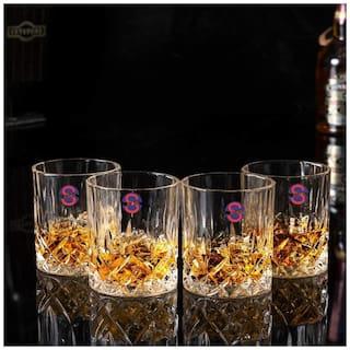 Somil Transparent Stylish Multi Purpose Glass;Clear;Beverage Tumbler;Set Of 4