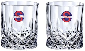 Somil Transparent Stylish Multi Purpose Glass;Clear;Beverage Tumbler;Set Of 2