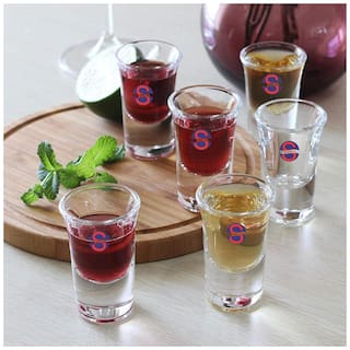 Somil Transparent Stylish Multi Purpose Glass;Clear;Beverage Tumbler;Set Of 6