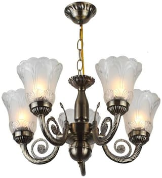 Somil Unique Design Glass Chandelier With Engraved Transparent Glass Lamps Chandelier Ceiling Light