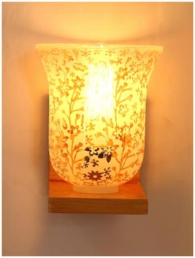 Somil Vintage Glass Wall Lamp (Hand Decorative With Golden Somil Design) A2