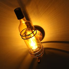 Somil Vintage Stylish Bar Bottle Wall Lamp/ Light;Glass;Suitable For 5 To 60 Watt LED & Other Bulb
