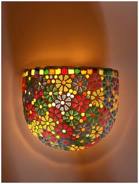 Somil Wall Lamp Uplighter Decorated With Chips & Beads For Colorful Magic Lighting Effect No JQ28