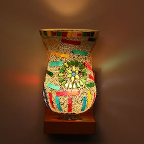 Somil WallChiere Wall Night Lamp With Decorative Colorful Shade and Stylish Chair Fitting