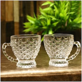 Somill New Design And Style Glass Tea Cup Set Of 2
