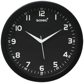 Sonic Black Wall clock