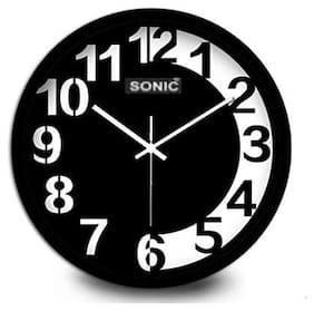 Sonic Plastic & Glass Analog Wall clock ( Set of 1 )
