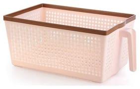 SONICKARTS Home Supplies Plastic Bin/Basket/Oragniser/Bucket/Storage Box /Washing Bowl /Storing Fruits Vegetables,Multicolor,Set of 3