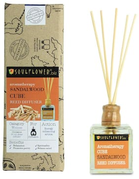 Soulflower Cube Reed Diffuser- Sandalwood