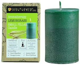 Soulflower Paraffin wax Green Candle