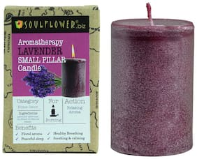 Soulflower Paraffin wax Purple Candle